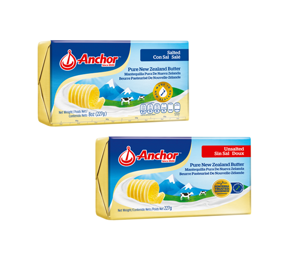 Anchor Pure New Zealand Butter Unsalted & Salted